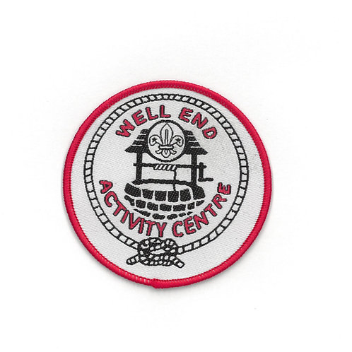 Well End Activity Centre Badge White