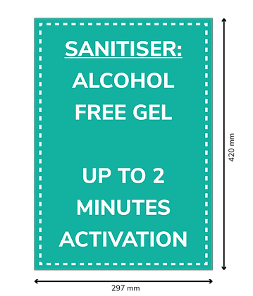COVID Signage - Alcohol Free Gel