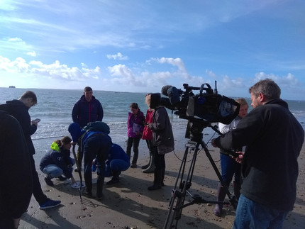 Filming for BBC South!