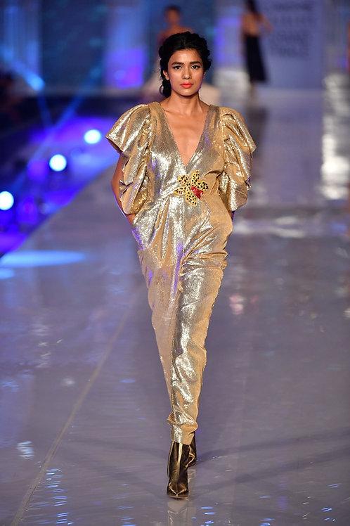 Gold Orchid Sequin Jumpsuit