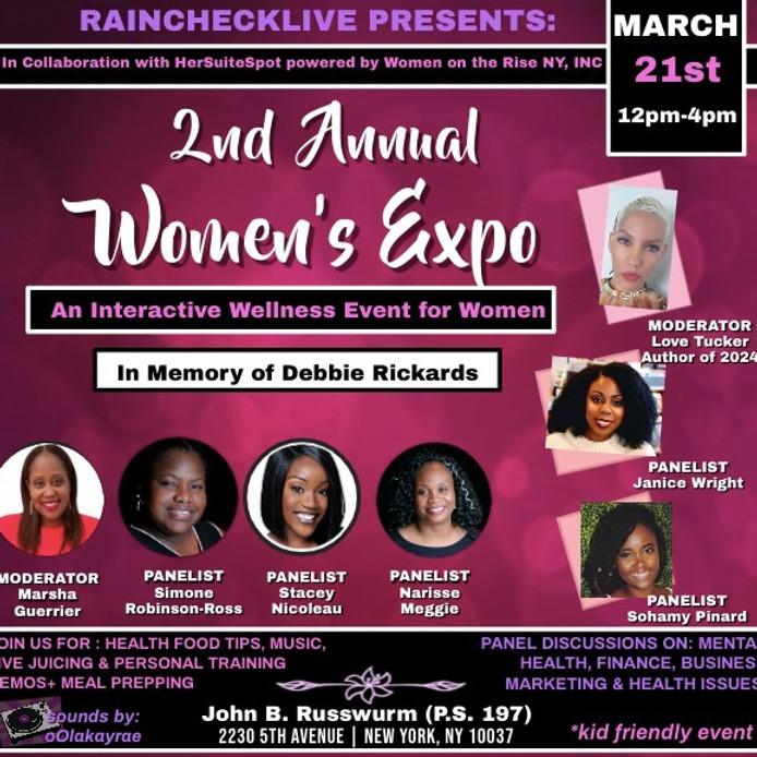 Rainchecklive's 2nd Annual Women's Expo