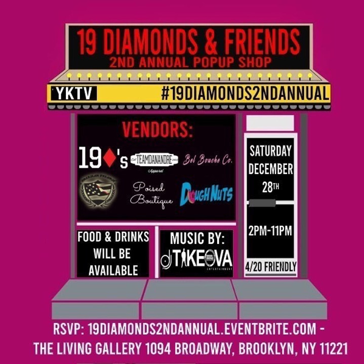 19 Diamonds And Friends 2nd Annual Pop Up Shop