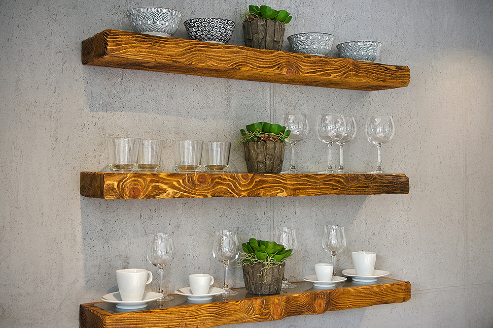 Shelves-glasses