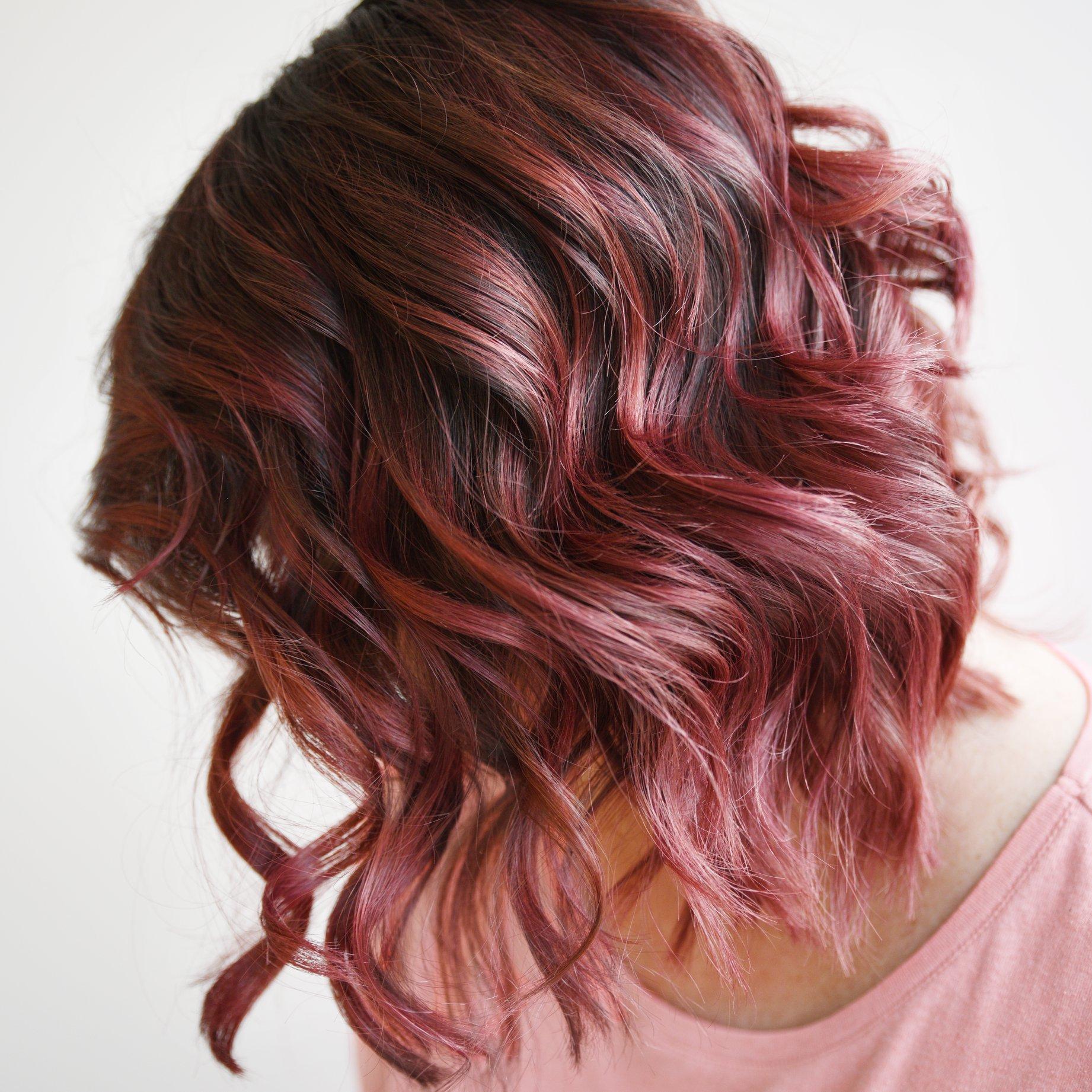 pink and dark