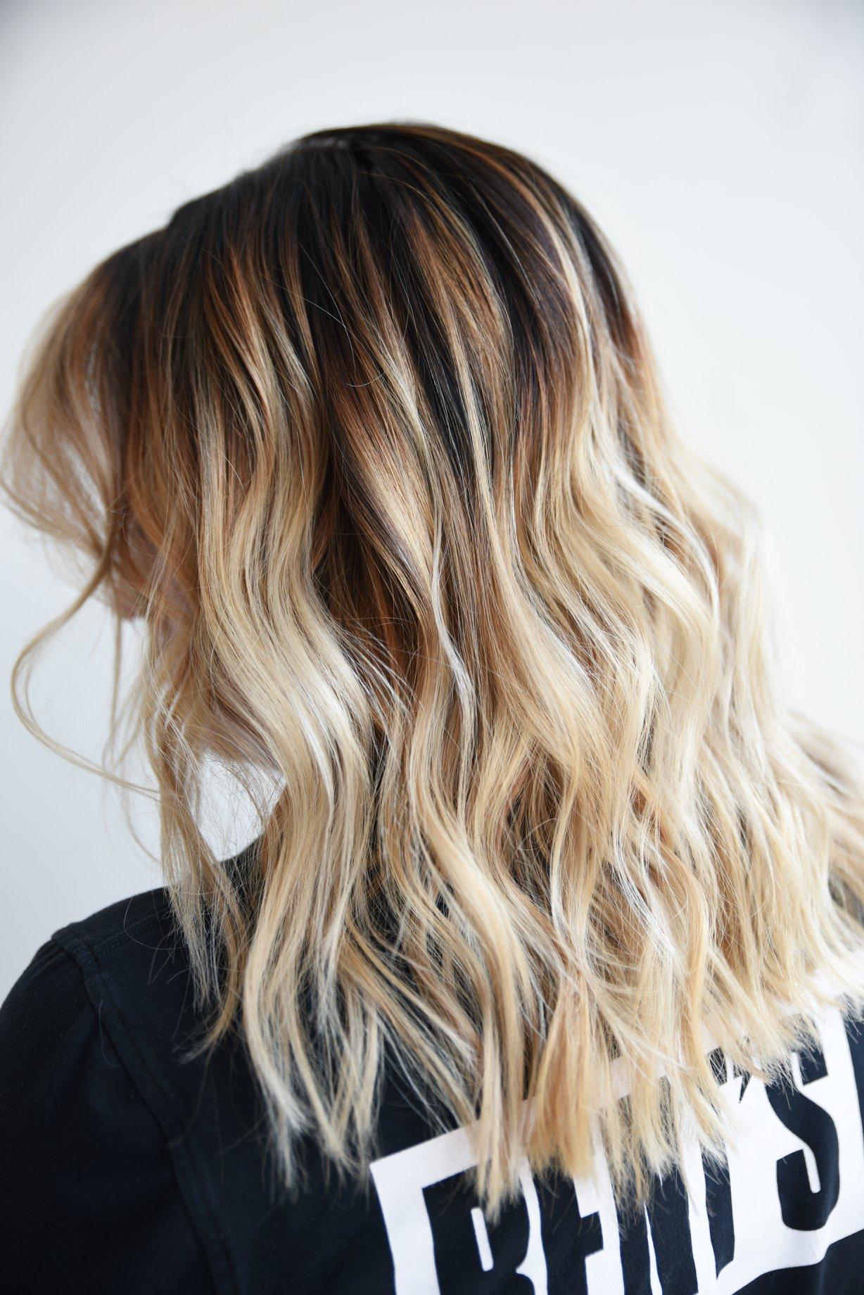 blonde and dark