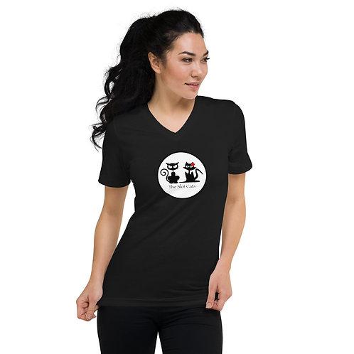 Unisex Short Sleeve V-Neck T-Shirt - Womens