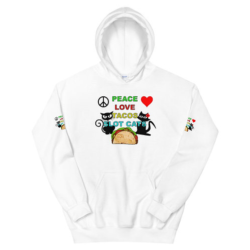 Unisex Hoodie - Peace Love & Tacos