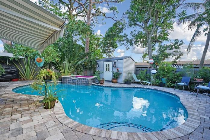 Heated Saline Pool and Garden Area