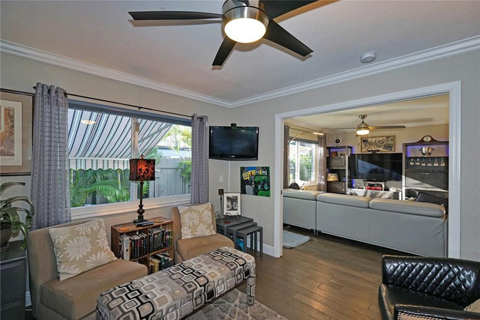 Second Living Area Space for Entertaining and includes a Pull Down Double Bed
