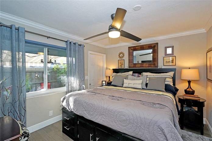 Large Cozy Bedroom with Natural Light