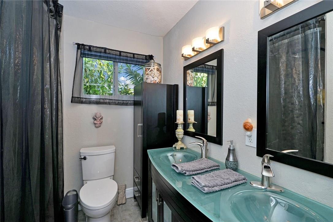 Bathroom with Modern Features and Double Sink