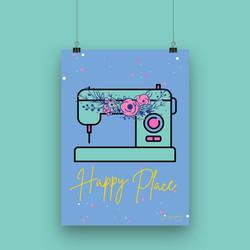 Happy Place - A4 Artwork Print