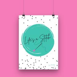 Life's a Stitch - A4 Artwork Print
