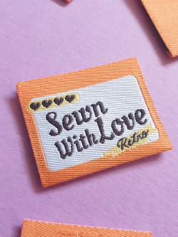 sewn with love close up
