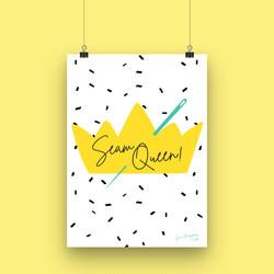 Seam Queen - A4 Art Print