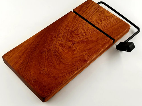 Cheese Slicer, Cutting Board, Sapele, Perfect Gift, House Warming, Wedding