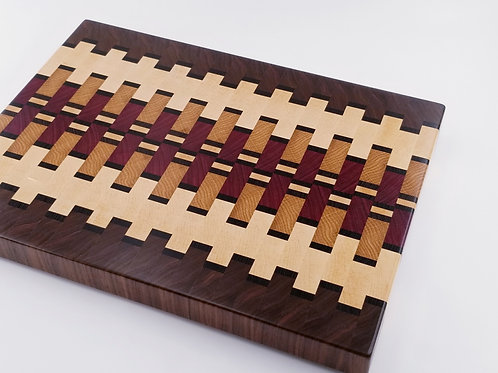 Beautiful Handcrafted Wood Cutting Board, Chopping Block, End Grain