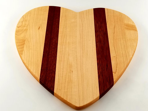Heart Shape Cutting Board/Serving Tray. Great display or Gift