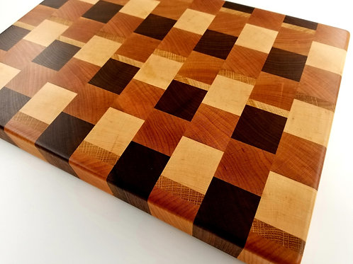 Butcher Block, Chopping Block End Grain Wood Cutting Board