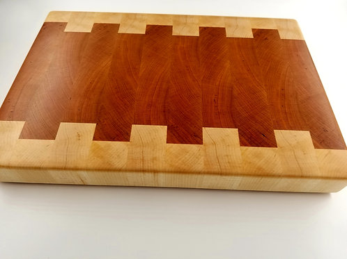 Beautiful Handcrafted End Grain Cutting Board for the Chef in the kitchen