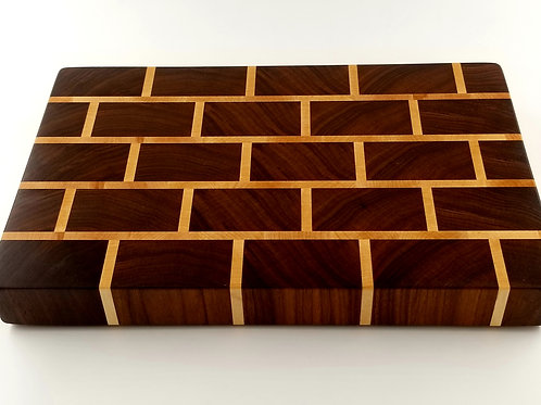 Professional, Butcher Block, Cutting Board, Chopping Block, Traditional Walnut,