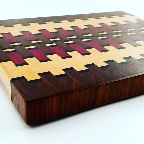 Beautiful Hand Crafted Wooden Cutting Board, Chopping Block, End Grain