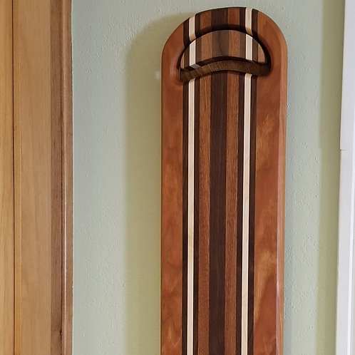 Wood Cutting Board, Bread, Cheese, Charcuterie, Walnut, Maple, With hanging wall