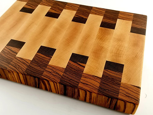 Beautiful End Grain Butcher Block. Makes a great gift for the Chef in your life.