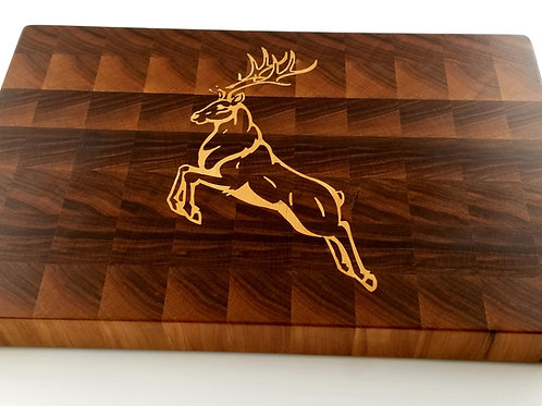 Deer Inlay Wood Cutting Board. Perfect gift for any hunter