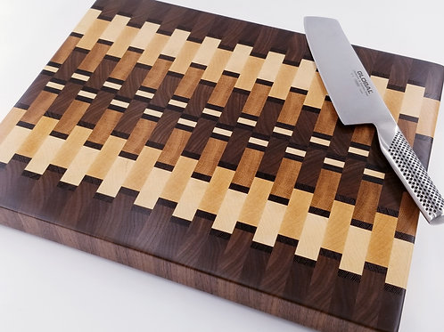 Beautiful Handcrafted Wood Cutting Board. End Grain, Butcher Block