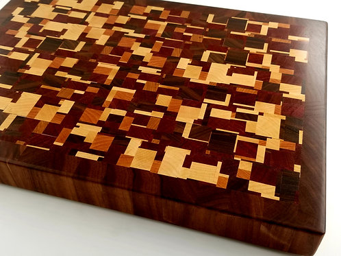 Chaotic pattern Wood Cutting Board, Fun Gift for Chef or Cook, Unique Pattern