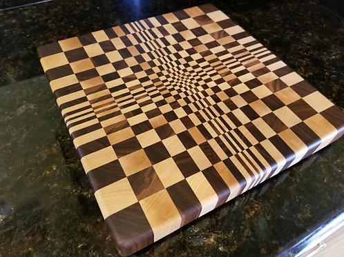 Beautiful Handcrafted 3D Endgrain Cutting Board, Butcher Block.