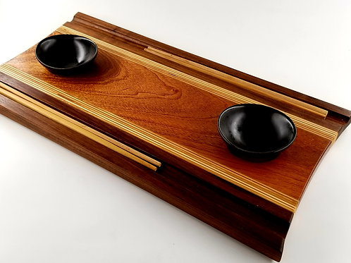 Wood Sushi Board, Serving Tray, Eat Your Sushi in Style