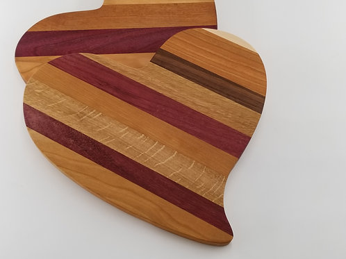 Heart Shape Wood Cutting Board, Valentines Day