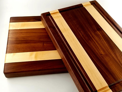 Beautiful Hand Made Walnut and Maple Cutting Board.