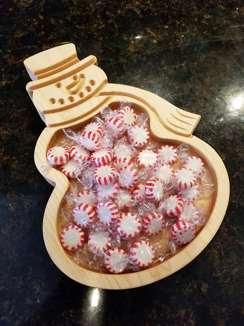 Snow Man Candy Dish