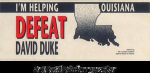 Anti-David Duke bumper sticker