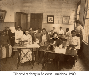 Gilbert Academy in Baldwin, Louisiana, 1900.