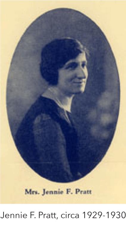 Jennie F. Pratt, circa 1929-1930