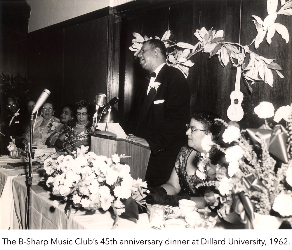 The B-Sharp Music Club's 45th anniversary dinner at Dillard University, 1962.