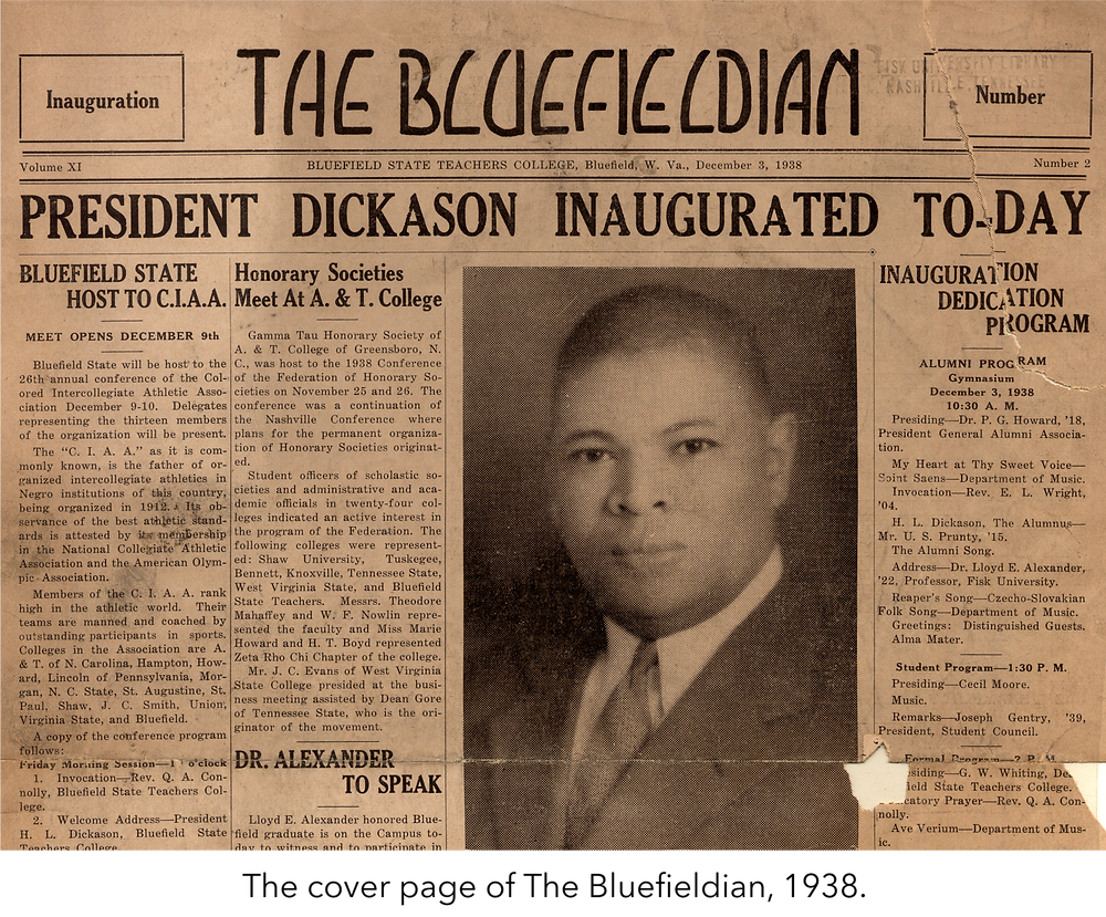 The cover page of The Bluefieldian, 1938.