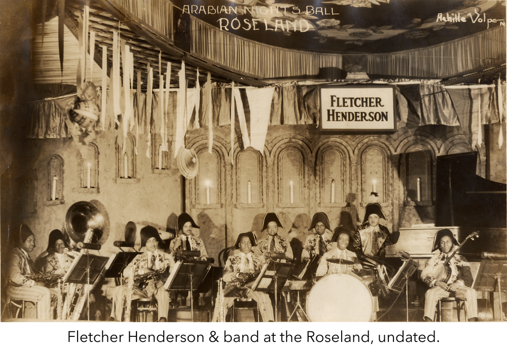 Fletcher Henderson & band at the Roseland, undated. Image from the Henderson Family papers.