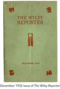 December 1932 issue of The Wiley Reporter