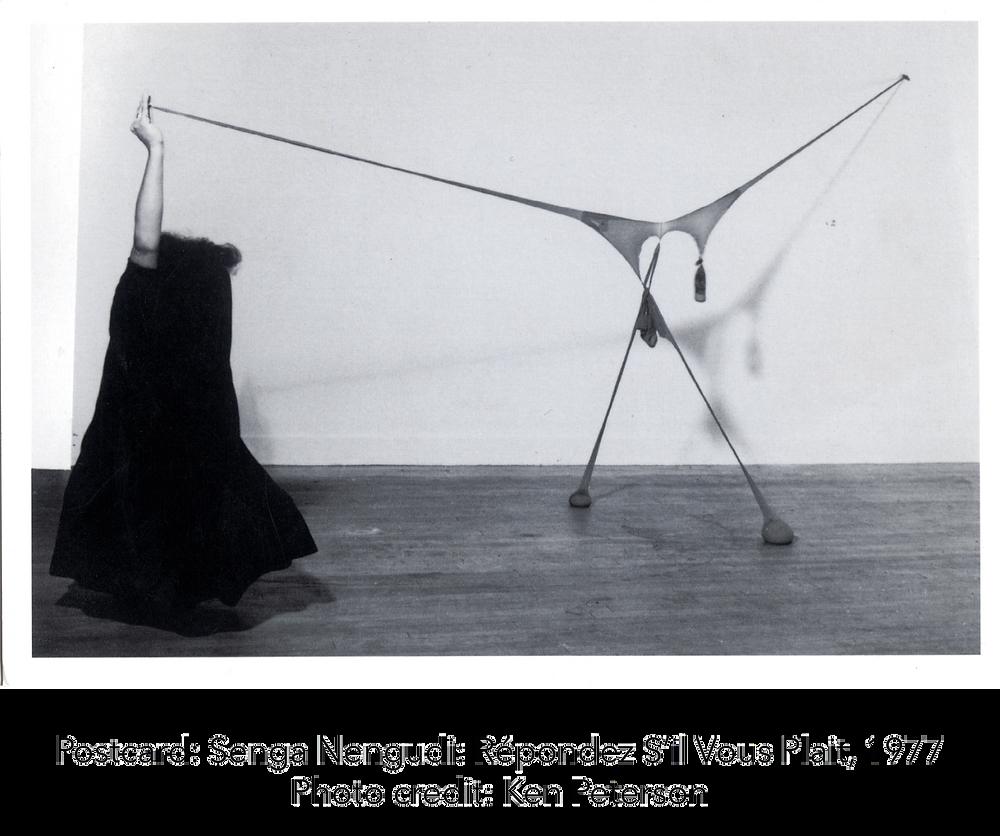 Postcard: Senga Nengudi: Répondez S'il Vous Plait, 1977. Photo credit: Ken Peterson