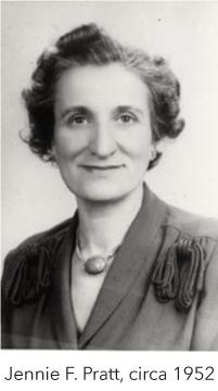 Jennie F. Pratt, circa 1952