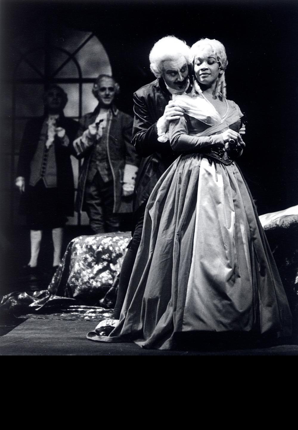 "Annabelle Bernard in ""Manon Lescout"" Act II, Premiere November 4, 1961. Photo credit: Heidelberg-Rohrbach, Kirschgartensir."