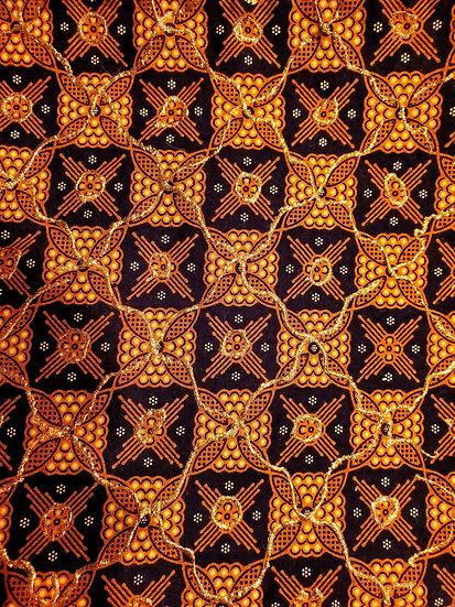 Brilliant Brown & Gold Wrap