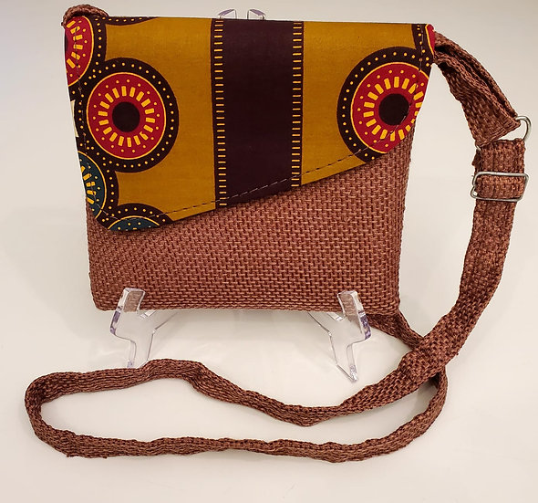 African Print Crossbody Bag
