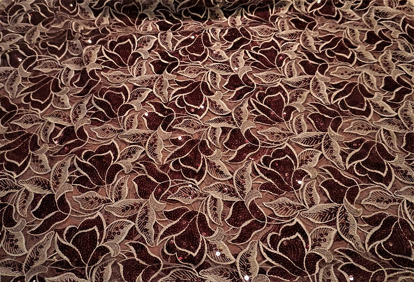 Maroon African Lace