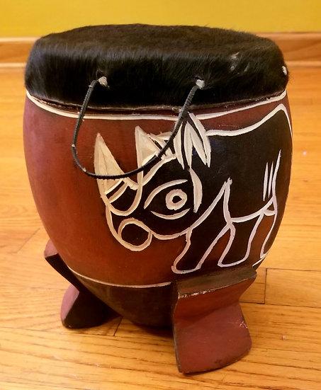 Zulu Cowhide Drum